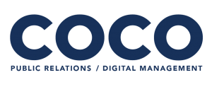 Coco pr Agency Singapore blue logo low res full logo