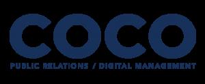 Coco pr Agency Singapore blue logo low res full logo